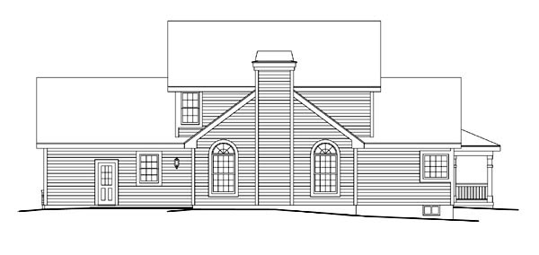 Colonial Country Farmhouse Southern Traditional House Plan 86984 Rear Elevation