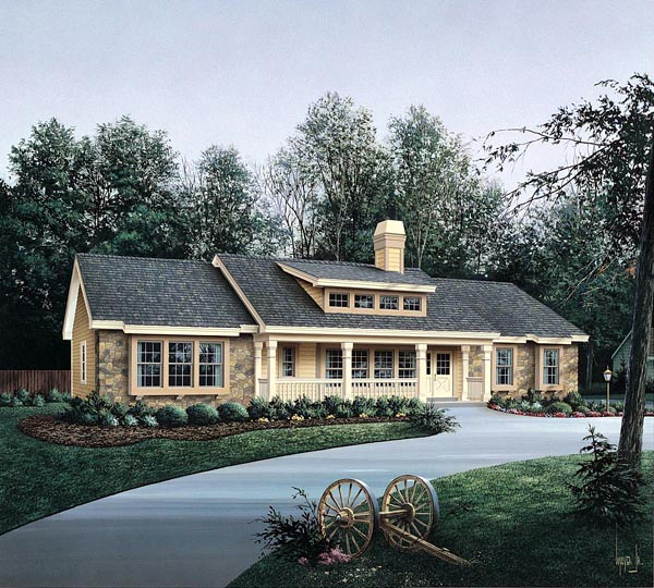 Bungalow Country Ranch House Plan 86985 Elevation