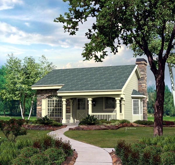 Cabin Cottage Country Ranch House Plan 86987 Elevation