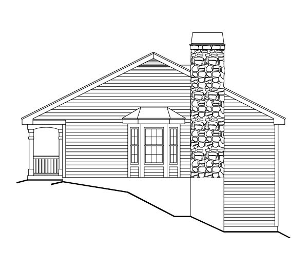 Cabin, Cottage, Country, Ranch House Plan 86987 with 2 Beds, 1 Baths, 1 Car Garage Picture 2