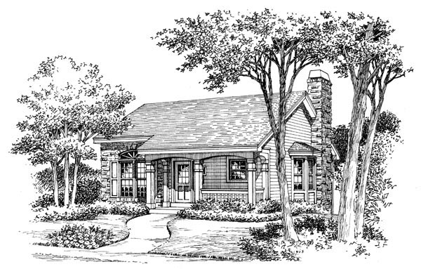 Cabin, Cottage, Country, Ranch House Plan 86987 with 2 Beds, 1 Baths, 1 Car Garage Picture 3