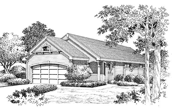 Cabin, Cottage, Ranch, Traditional House Plan 86988 with 3 Beds, 2 Baths, 2 Car Garage Picture 3
