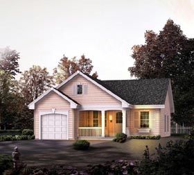Cabin Cottage Country Ranch Traditional House Plan 86989 Elevation