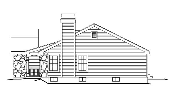 Cabin, Cottage, Country, Ranch, Traditional House Plan 86990 with 3 Beds, 2 Baths, 1 Car Garage Picture 2