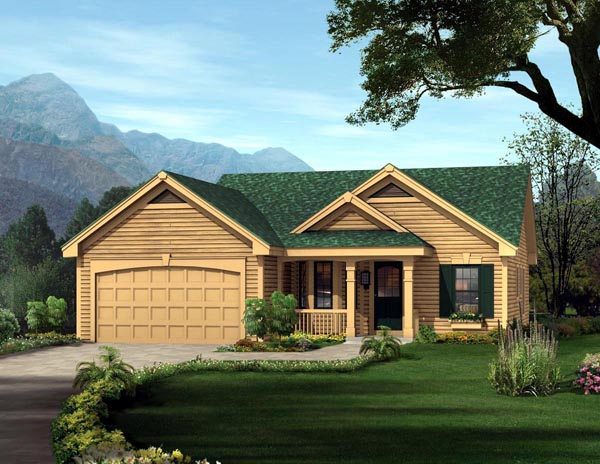 Traditional , Ranch , Cottage , Cabin House Plan 86992 with 3 Beds, 2 Baths, 2 Car Garage Elevation