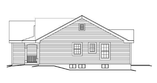 Cabin, Cottage, Ranch, Traditional House Plan 86992 with 3 Beds, 2 Baths, 2 Car Garage Picture 2
