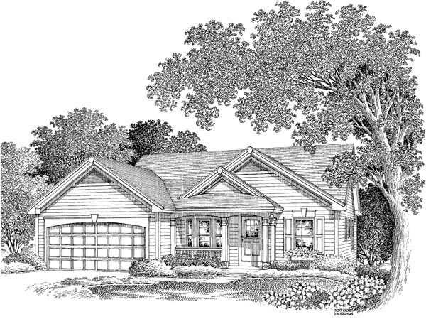Cabin, Cottage, Ranch, Traditional House Plan 86992 with 3 Beds, 2 Baths, 2 Car Garage Picture 3