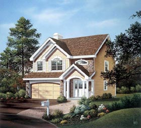 Traditional House Plan 86994 with 3 Beds, 3 Baths, 2 Car Garage Elevation