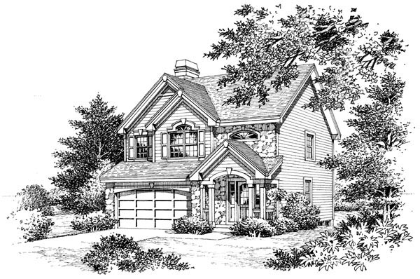 Traditional House Plan 86994 with 3 Beds, 3 Baths, 2 Car Garage Picture 3