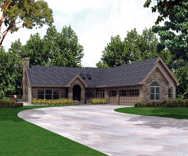 Country European Ranch House Plan 86996 Elevation