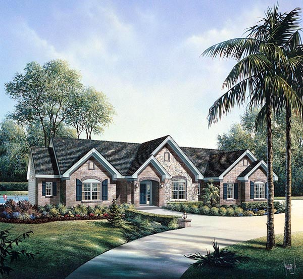 Retro Traditional House Plan 86997 Elevation