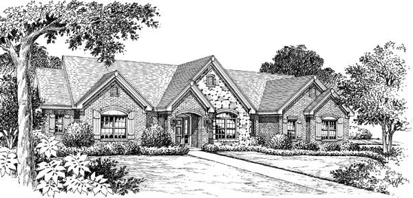 Retro Traditional House Plan 86997