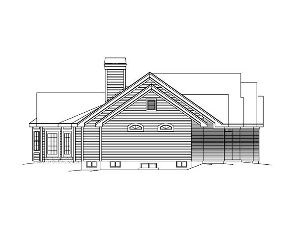 Retro, Traditional House Plan 86997 with 3 Beds, 3 Baths, 2 Car Garage Picture 4