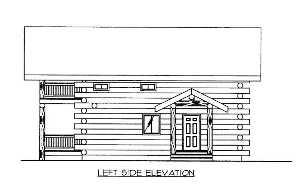 Log House Plan 87009 with 2 Beds, 2 Baths Picture 1