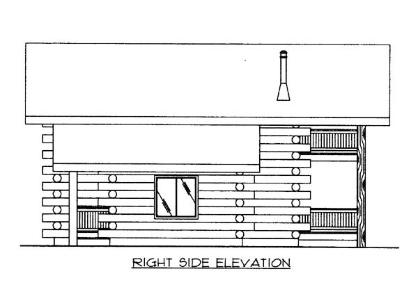 Log House Plan 87009 with 2 Beds, 2 Baths Picture 2