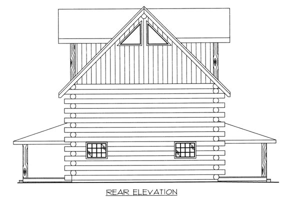 Contemporary Log House Plan 87024 Rear Elevation