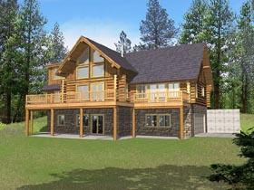 Contemporary Log House Plan 87029 Elevation