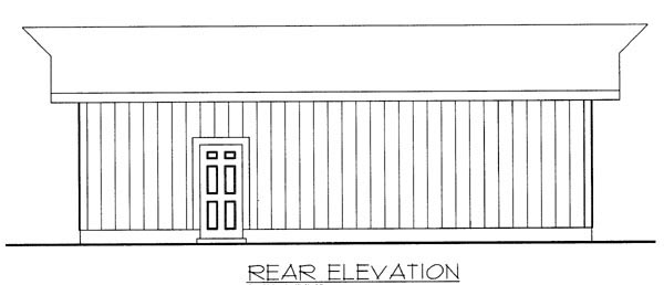Rear Elevation of Plan 87036