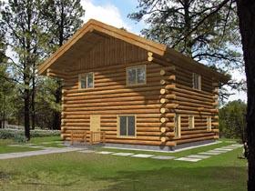 Log House Plan 87041 Elevation