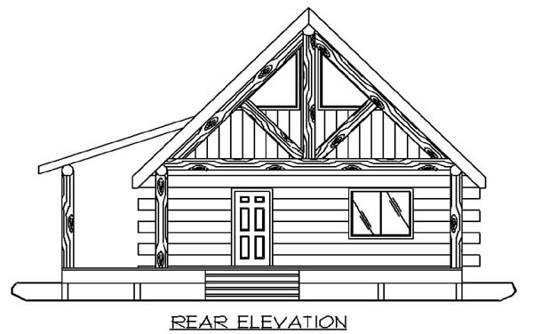 Log House Plan 87050 Rear Elevation