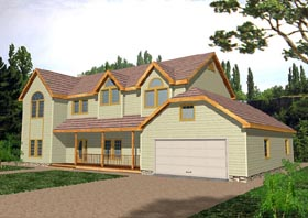 Traditional House Plan 87076 with 6 Beds, 3.5 Baths, 2 Car Garage Elevation