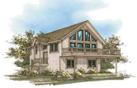 Contemporary, Log House Plan 87077 with 3 Beds, 3 Baths Elevation