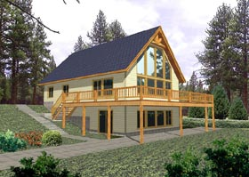 Contemporary House Plan 87079 Elevation