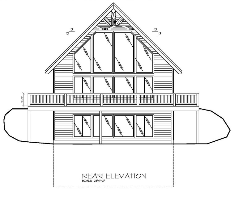 Contemporary House Plan 87079 Rear Elevation