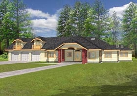 Traditional House Plan 87081 Elevation
