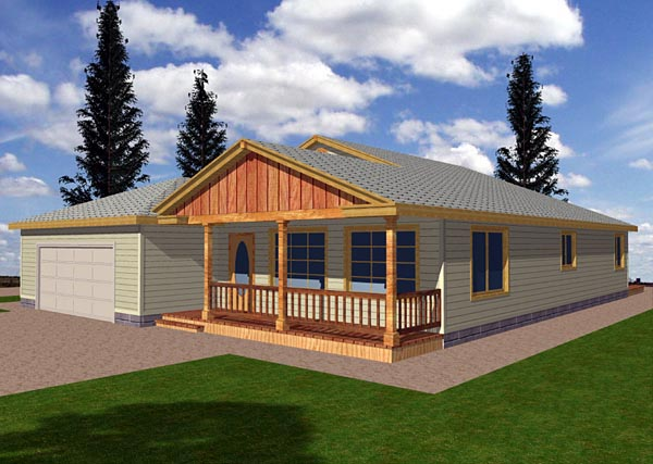 Ranch House Plan 87084 Elevation