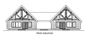 Multi-Family Plan 87085 | Log Style Plan with 1730 Sq Ft, 2 Bedrooms, 2 Bathrooms Elevation