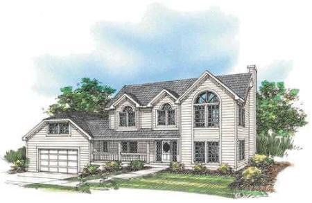 Country House Plan 87087 with 4 Beds, 3 Baths, 2 Car Garage Elevation