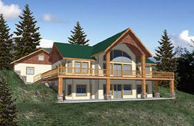 Contemporary House Plan 87091 Elevation