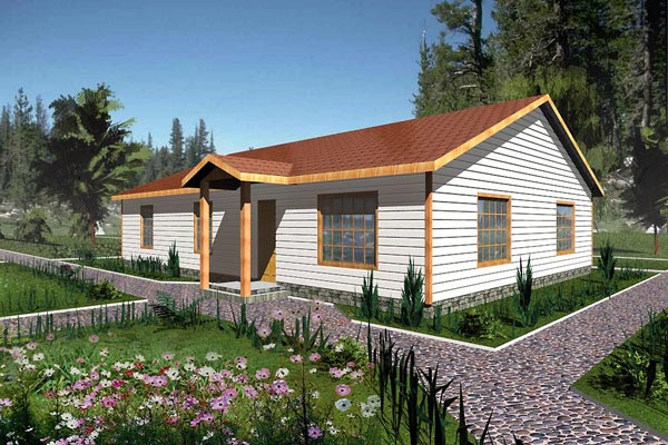 Ranch House Plan 87093 Elevation