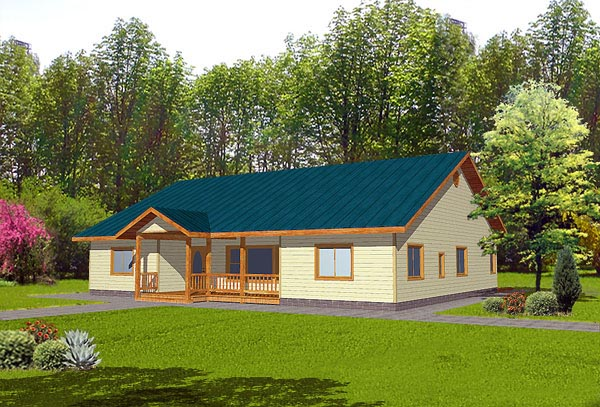 Ranch House Plan 87094 Elevation