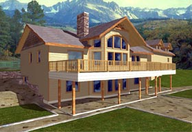 Contemporary House Plan 87095 Elevation