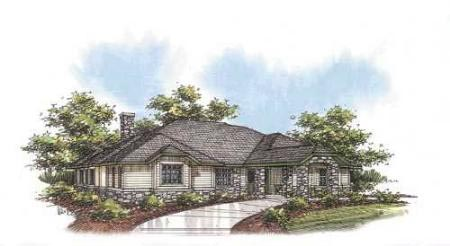 Traditional House Plan 87100 with 2 Beds, 4 Baths Elevation
