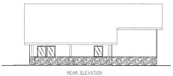 House Plan 87101 Rear Elevation