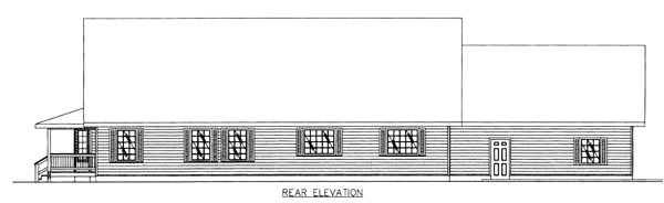 Country House Plan 87102 Rear Elevation