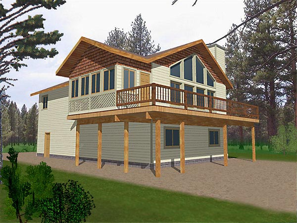 Contemporary Craftsman House Plan 87103 Elevation