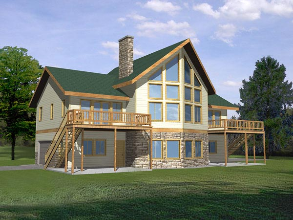 Contemporary House Plan 87104 Elevation