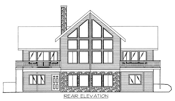 Contemporary House Plan 87104 Rear Elevation