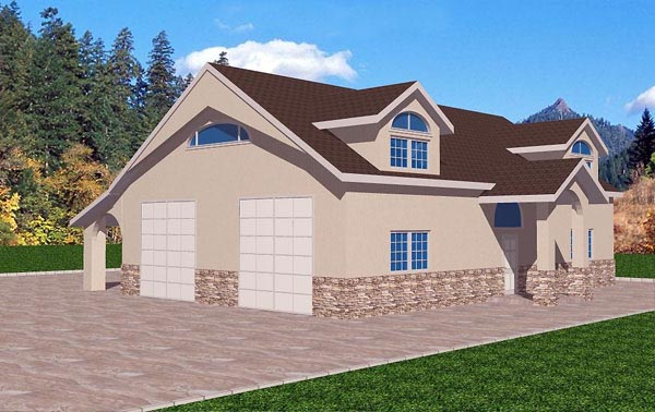 Garage plan 87106 at for Block garage plans