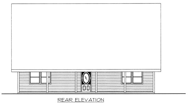 Country House Plan 87107 Rear Elevation
