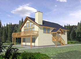 Contemporary House Plan 87108 with 3 Beds, 2.5 Baths