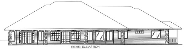 Log Traditional House Plan 87109 Rear Elevation