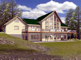 Contemporary House Plan 87110 Elevation