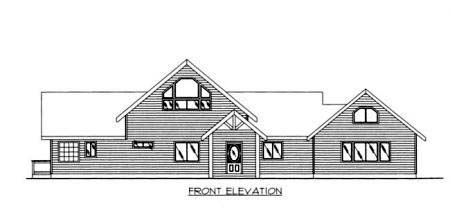 Contemporary House Plan 87110 Rear Elevation