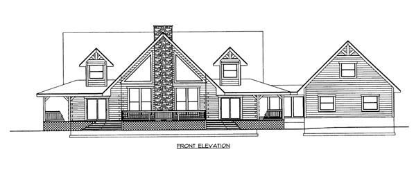 Log House Plan 87111 with 3 Beds, 3 Baths, 1 Car Garage Elevation
