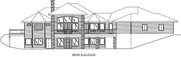 Southwest Traditional House Plan 87112 Rear Elevation